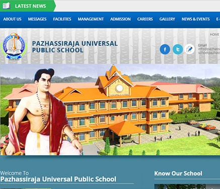 School website Kozhikode, Kerala, India