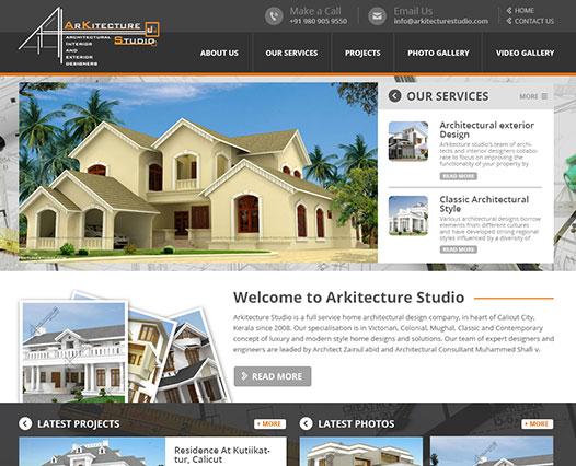 Architect website Kozhikode, Kerala, India